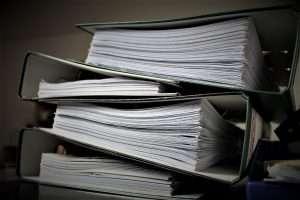 files of paperwork