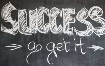 blackboard with success go get it