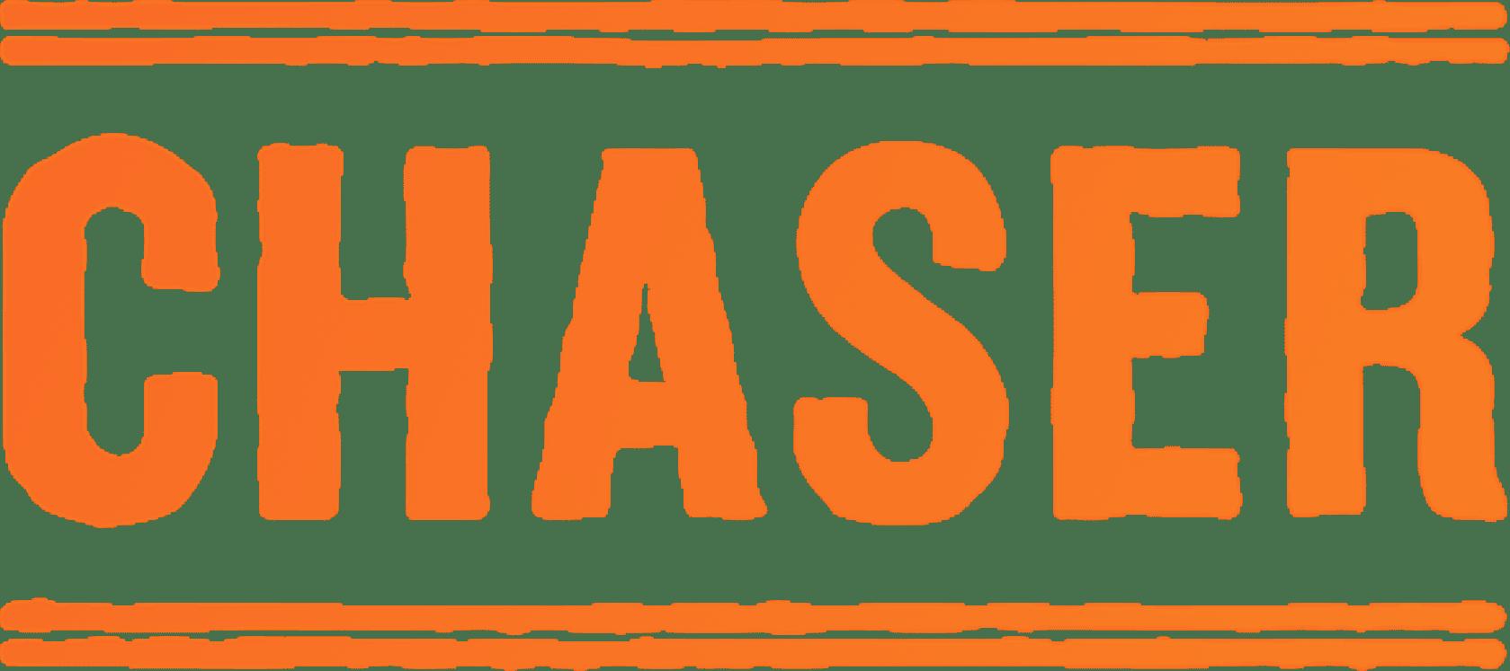 chaser stamp logo orange