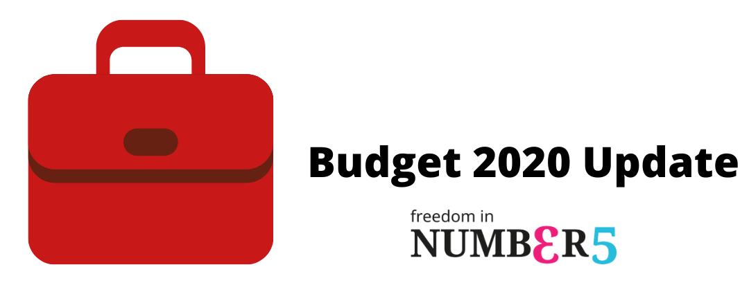 Budget 2020 – Update