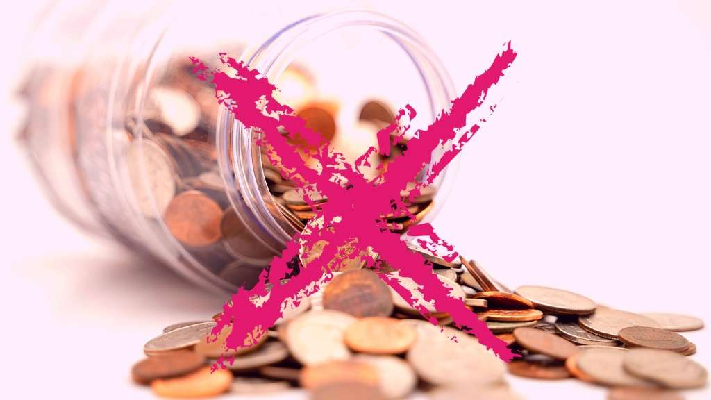 Fallen Jar of money