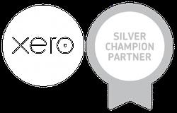 Xero White silver champion logo 2